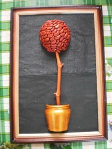 картина на коже Кофейное дерево
