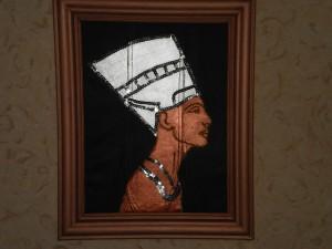 """Картина из кожи """"Нефертити"""""""