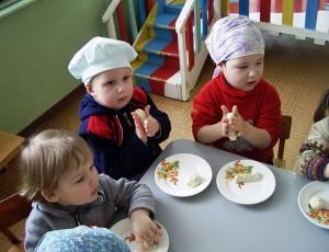 украшение детских салатов