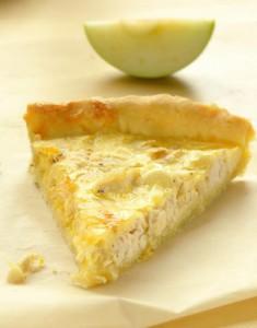 Пирог Киш с курицей и яблоком