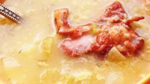 Гороховый суп из свиных ребер