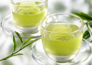 зеленым чаем
