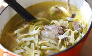 Охотничий суп из голубей
