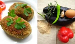 Вегетарианские котлеты из баклажан