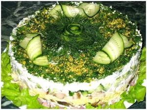 Быстрые салаты к празднику