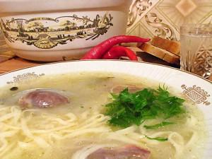 Домашний суп с лапшой